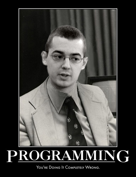 image: Gary Bernhardt (as John McCarthy): 'Programming: You're Doing It Wrong'